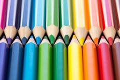 kredki kolorowe ołówki kolor tła asortymentu kolorowe ołówki Zdjęcie Stock