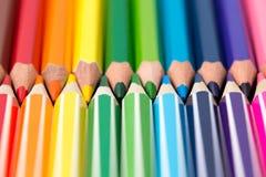 kredki kolorowe ołówki kolor tła asortymentu kolorowe ołówki Obrazy Royalty Free