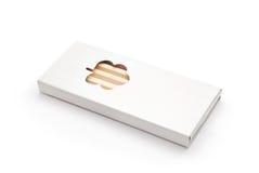 Kredki pudełko Zdjęcia Stock