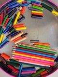 Kredki sztuki tekstury wzór Zdjęcie Stock