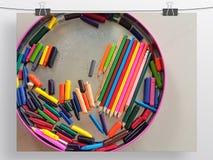 Kredki sztuki tekstury wzór Obraz Stock
