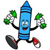 Kredkowy bieg z pieniądze Zdjęcia Stock