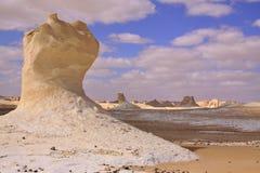 Kredowa formacja w biel pustyni Obrazy Royalty Free
