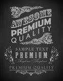 Kredowa typografia, kaligraficzni projektów elementy Obraz Royalty Free