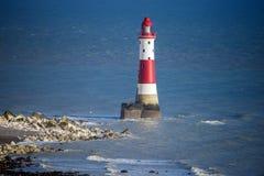 Kredowe falezy blisko Eastbourne w Wschodnim Sussex i, Anglia obraz stock