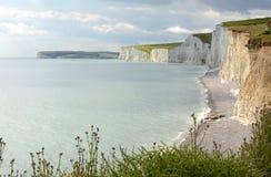 Kredowe falezy w Sussex england Obrazy Royalty Free