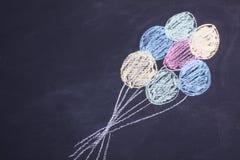 Kredowego rysunku balony obrazy stock