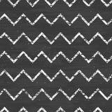 Kredowego szewronu blackboard bezszwowy wzór Obraz Stock