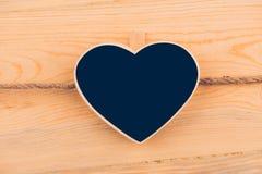 Kredowej deski serce dla twój teksta Zdjęcia Royalty Free