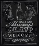 Kredowy piwo Fotografia Royalty Free