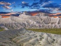 kredowy plateau skłonów Ustyurt biel Zdjęcie Royalty Free
