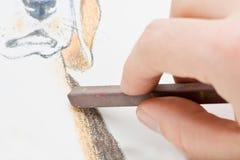 kredowy rysunkowy pastel Obrazy Royalty Free