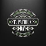 Kredowy typograficzny projekt dla St Patrick dnia również zwrócić corel ilustracji wektora Zdjęcia Stock