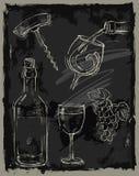 Kredowy wino Zdjęcie Royalty Free