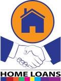 Kredytów mieszkaniowych logowie Zdjęcia Stock