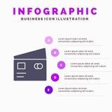Kredyt, debet, Globalny, wynagrodzenie, Robi zakupy Stałego ikony Infographics 5 kroków prezentacji tło ilustracji