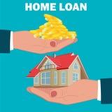 Kredyt mieszkaniowy, hipoteka, płaski projekt, wektorowa ilustracja Fotografia Stock