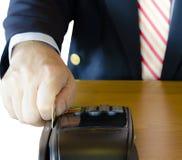 Kredytowa karciana maszyna Zdjęcie Stock