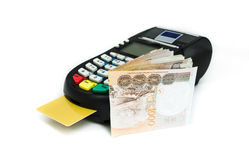 Kredytowa karciana maszyna Obrazy Royalty Free