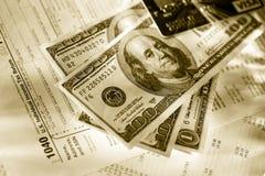 Kredytowa karta i dolary zdjęcie stock
