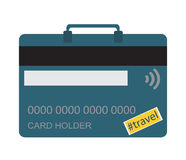 Kredytowa karta jak bagaż Zdjęcia Royalty Free
