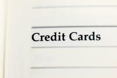 Kredytowa karta na papierze Zdjęcia Stock