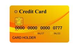 Kredytowa karta odizolowywająca na białym background Obrazy Royalty Free