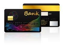 Kredytowa karta odizolowywająca na białym background Fotografia Royalty Free