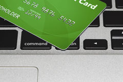 Kredytowa karta - Online zakupy pojęcie Fotografia Royalty Free