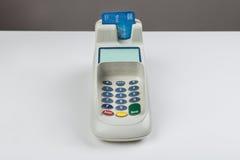 Kredytowa karta Z czytnikiem kart Fotografia Stock
