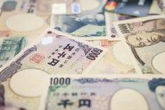 Kredytowe karty i Japoński jen obraz royalty free