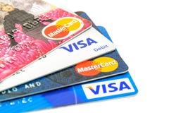 Kredytowe karty wyborowe zdjęcie royalty free