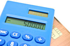 kredytowej karty dług Zdjęcia Stock