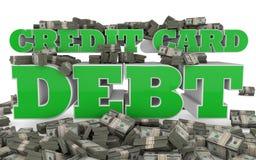 Kredytowej karty dług Zdjęcia Royalty Free