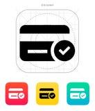 Kredytowej karty dostępu ikona. Zdjęcia Stock