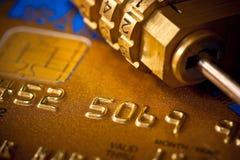 Kredytowej karty ochrona zdjęcie stock