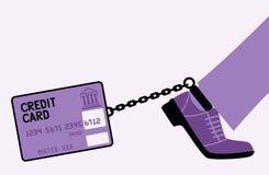 Kredytowej karty pętania. Zdjęcie Stock
