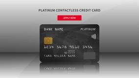 Kredytowej karty reklamowa wektorowa ilustracja Obraz Royalty Free