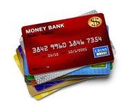Kredytowej karty sterta ilustracja wektor