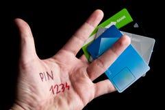 Kredytowej karty szpilka Fotografia Royalty Free