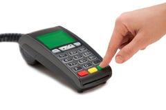 Kredytowej karty terminal Zdjęcia Royalty Free