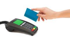 Kredytowej karty terminal Fotografia Royalty Free
