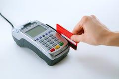 Kredytowej karty terminal Obrazy Royalty Free