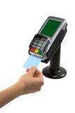 Kredytowej karty terminal Obrazy Stock