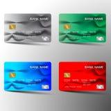 Kredytowej karty ustalony projekt Obraz Royalty Free