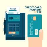 Kredytowej karty zapłata Obrazy Stock