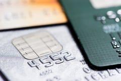 Kredytowej karty zapłata, robi zakupy online Obraz Stock