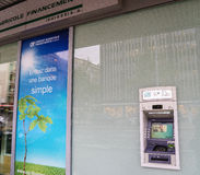 Kredytowy Agricole bank Fotografia Royalty Free