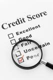 kredytowy biedny wynik obrazy stock