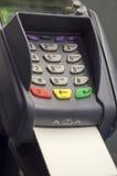 Kredytowy czytnik kart i kredytowa karta Obrazy Royalty Free